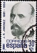 SPAIN - CIRCA 1981: A stamp printed in Spain shows Juan Ramon Jimenez circa 1981