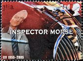 UNITED KINGDOM - CIRCA 2005: A stamp printed in Great Britain shows inspector Morse circa 2005