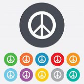 Peace sign icon. Hope symbol