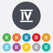 picture of roman numerals  - Roman numeral four sign icon - JPG