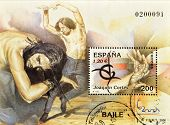 SPAIN - CIRCA 2000: A stamp printed in Spain shows the flamenco dancer Joaquin Cortes circa 2000