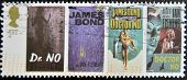 UK - CIRCA 1995 : stamp printed in UK with James Bond Agent 007 of Ian Fleming Doctor No circa 1995