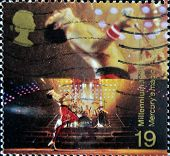 UNITED KINGDOM - CIRCA 1998: stamp printed in Great Britain shows Freddie Mercury leader of Queen