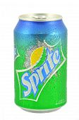 Can of Sprite drink isolated on white