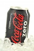 Can of Coca-Cola Zero drink isolated on white