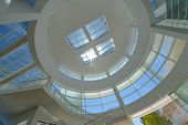 LOS ANGELES, CA - AUGUST 19, 2013: Architectural details of The Getty Center. The Center is a promin