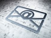 Business concept: Silver Email on digital background