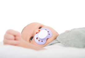 foto of teats  - baby with a teat in his mouth - JPG