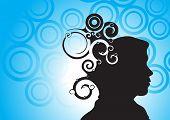 human head silhouette