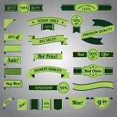 Discount retro ribbon green set