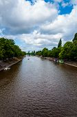 View Over River Ouse And Bridge In The City Of York, UK