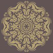 Orient vector ornamental round lace