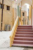 foto of jabal  - Street of small village on Saiq Plateau in Oman - JPG