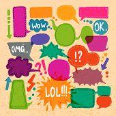 Bubble speech icons set