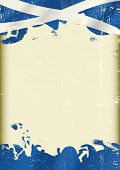 Grunge Scottish flag. A poster with a large scratched frame and a grunge flag of Scotland for your