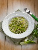 risotto with leek