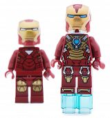 Ankara, Turkey - June 22, 2013: Two Lego Iron Man minifigures isolated on white background