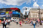 People In Piccadilly Circus