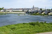 view of the old city of Blois, highlights the St. Louis Cathedral and the Loire river first, Loire V
