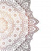 Zentangle design on white