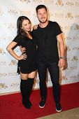 LOS ANGELES - SEP 10:  Janel Parrish, Val Chmerkovskiy at the Dance With Me USA Grand Opening at Dance With Me Studio on September 10, 2014 in Sherman Oaks, CA