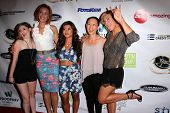 LOS ANGELES - SEP 6: Alexis Raich, Kristanna Loken, Tiffany Panhilason, Nicole Bilderback, Zoe Bell at the