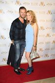 LOS ANGELES - SEP 10:  Artem Chigvintsev, Lea Thompson at the Dance With Me USA Grand Opening at Dan