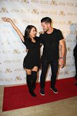 LOS ANGELES - SEP 10:  Janel Parrish, Val Chmerkovskiy at the Dance With Me USA Grand Opening at Dan