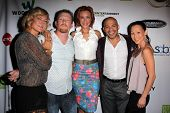 LOS ANGELES - SEP 6:  Zoe Bell, Christopher Ray, Kristanna Loken, Gerald Webb, Nicole Bilderback at