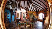 Otovalo, Ecuador - 2 may 2013: Hotel  La casa del sol