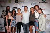 LOS ANGELES - SEP 6:  Tim Abell, Alexis Raich, T Panhilason, N Bilderback, Chris Ray, Zoe Bell, Kristanna Loken, E DeRuiter at the