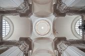 DUBROVNIK, CROATIA - MAY 26, 2014: The ceiling of the Cathedral of the Assumption, dating from the 1