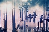 foto of smog  - old oil and gas refinery - JPG