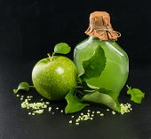 Green Apple With Spa And Aromatherapy Accessories