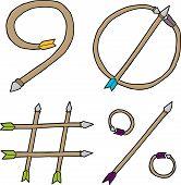 Nine, Zero, Pound And Percent Arrows