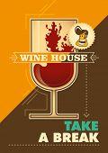 Modern wine house poster. Vector illustration.