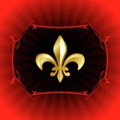 stock photo of fleur de lis  - Original Vector Illustration - JPG