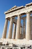 Columns Of Parthenon In Acropolis Of Athens