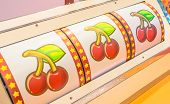 Close Up Shot Of Slot Machine Lucky Drawn Image