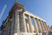 Reconstruction Of Parthenon In Athens