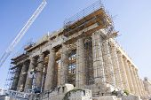 Reconstruction Of Parthenon Temple In Athens