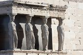 Caryatids In Erechtheion Of Erechtheum