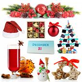 Christmas and New Year decoration collection