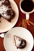 Chocolate Cake With Icing Sugar