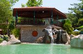 The Restaurant On The Manavgat River In Turkey
