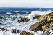 Game of the ocean water in summer to San Esteban