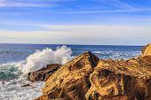 waves at The Rock in Navarra Spain