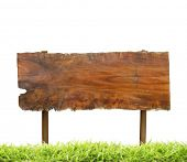 Wood sign isolated , space for message