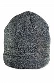 Men's Gray Knitted Cap Isolated On White Background