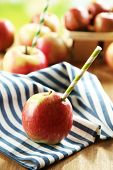 Concept of fresh apple juice